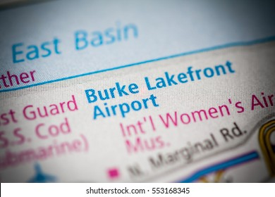 Burke Lakefront Airport. Ohio. USA