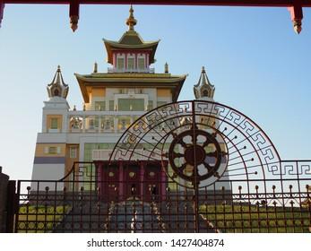 Burkhan Bakshin Altan Sume The Golden Abode of the Buddha Shakyamuni is the main touristic attraction in the capital of Kalmykia.