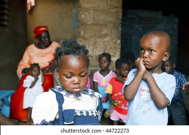 BURKINA FASO - AUGUST 22: Orphanage in Ouagadougou, Hundreds of children abandoned on the streets are victims of poverty or illness, August 22, 2009 in Ouagadougou, Burkina Faso