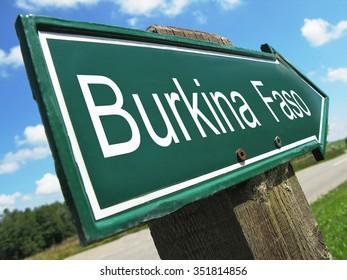 Burkina Faso road sign