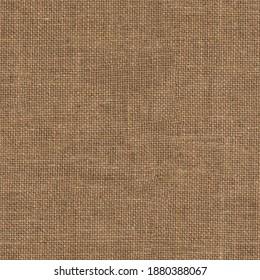 Burlap fabric (sacking, canvas, jute). Flat seamless texture