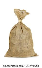burlap sack isolated on white