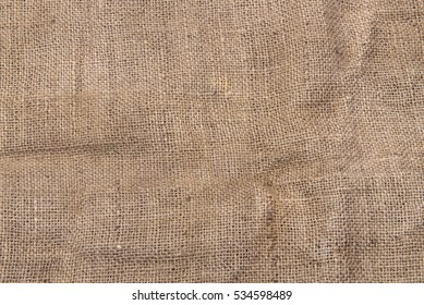 Burlap or sacking texture for the background close up
