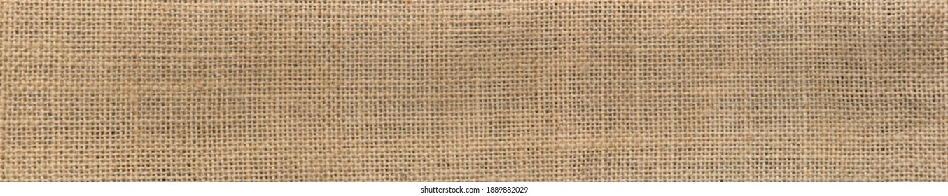 Burlap texture in wide screen for background. Sackcloth burlap woven. Panoramic view - Shutterstock ID 1889882029