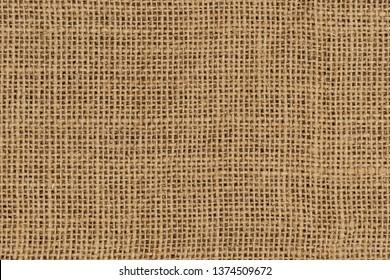Burlap woven texture seamless. jute background close up macro