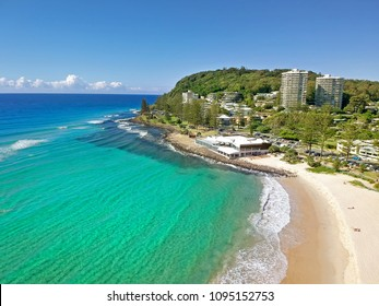 Burleigh Heads from above, Gold Coast, Australia.