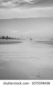 Burleigh Heads beach in the Gold Coast, Queensland during the day.