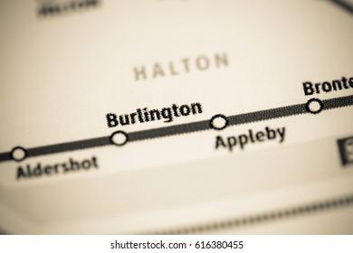 Burlington Station. Toronto Metro map.