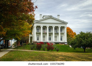 Burlington, USA-20 October 2019 : The Follett House at 63 College Street between Battery and S. Champlain Streets in Burlington, Vermont was built in 1840 as the residence of Timothy Follett