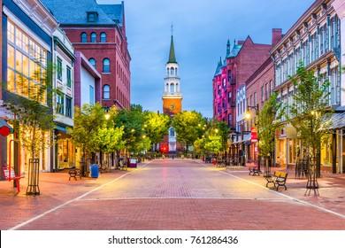 Burlington, Vermont, États-Unis, au marché Church Street Marketplace.