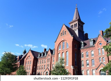 BURLINGTON, VT, USA - JUNE 25: The Old Mill Building at the University of Vermont in Burlington, Vermont on June 25, 2018. UVM is a public research university.