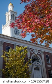 BURLINGTON, VT, USA - OCT 21, 2017: Burlington City Hall.  Burlington is a city in northwestern Vermont, on the eastern shore of Lake Champlain, south of the Canadian border.