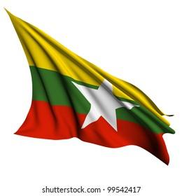 Burma flag - collection no_4 Myanmar