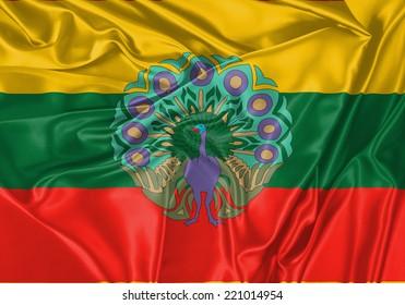 Burma waving flag