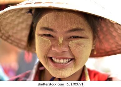 Burma young woman in Myanmar
