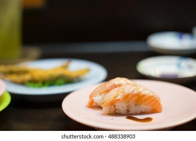 Burn Salmon Sushi