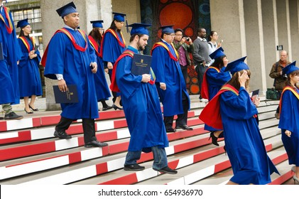 BURNABY, CANADA -OCTOBER 8TH, 2015: Congregation (Graduation) Ceremony at Simon Fraser University celebrating the conferring of degrees.