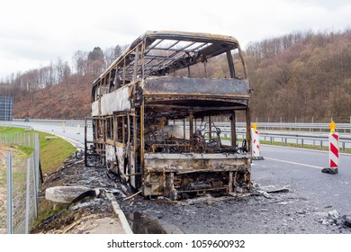 burned the double decker bus