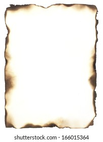 Burned edges isolated on white. Use as a frame or composite with any sheet of paper to give it the appearance of burned edges.