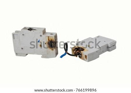 Strange Burned Electrical Circuit Breaker Fuse Box Stock Photo Edit Now Wiring Digital Resources Inklcompassionincorg