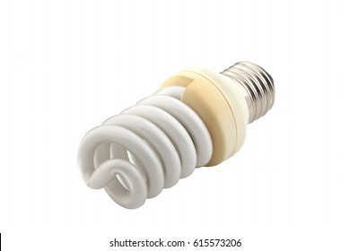 Burned light bulb isolated on a white background