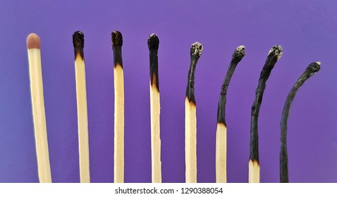 Burned out concept with burned matches