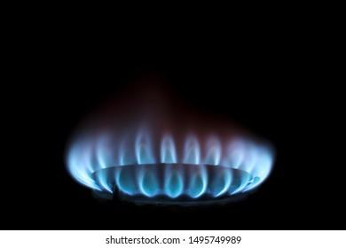 burner burned in the dark on the stove
