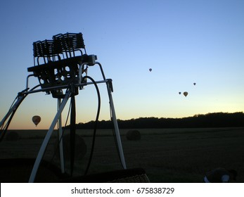 Burner of an hot air ballon in Chambey, august 2007 5th