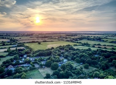 Burnham-on-Crouch, Southminster, Althorn, Ostend aerial views