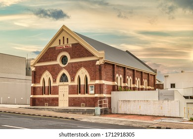 Burnie, Tasmania, Australia - March 1, 2020: The Burnie Gospel Hall, the place of worship for the Christian Brethren.