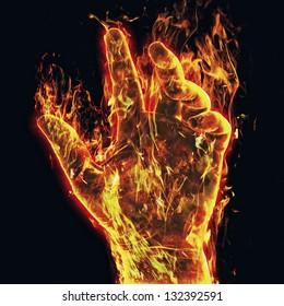 Burning arm