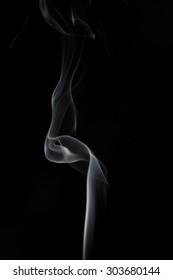 Burning with beautiful smoke fumes