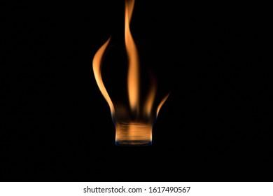 burning bulb on fire low key