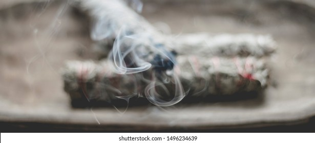 burning bundle of South Dakota sage brush