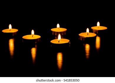 Burning candles - a symbol of International Holocaust Remembrance day 27 January