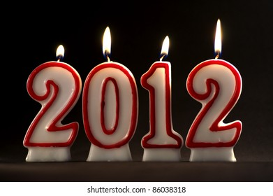 Burning candles for year 2012