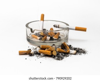 burning cigaretts in an Ashtray