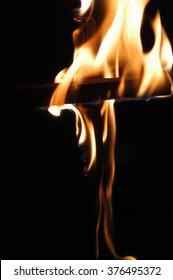 Burning cross - Shutterstock ID 376495372