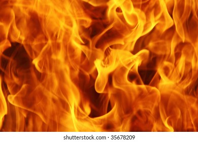 Burning fire can be used as background