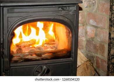 Burning Fire Place