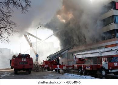 Burning fire smoke firefighter emergency service