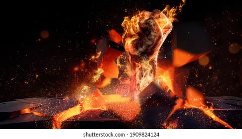 burning fist sleeps through stone