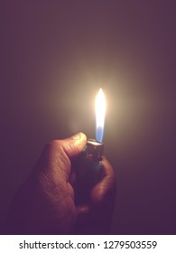 burning flame of a lighter