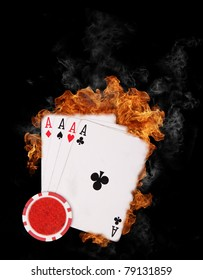 Burning four aces