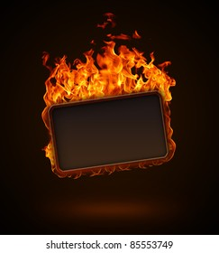 Burning frame