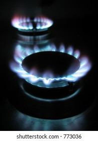 Burning gas rings