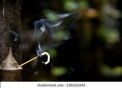 burning Incense stick for praying gods