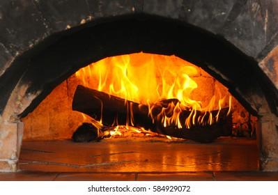 burning log
