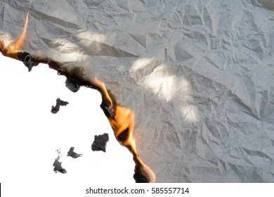 Burning paper background White