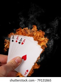 Burning Poker cards